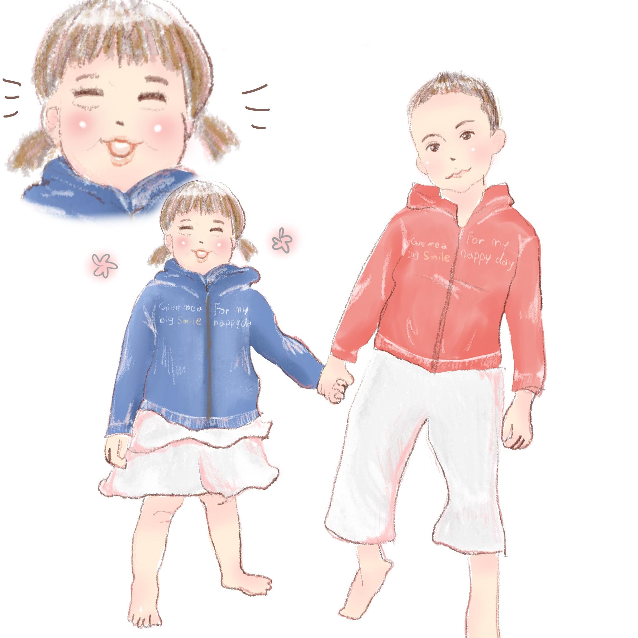 兄妹の育児漫画